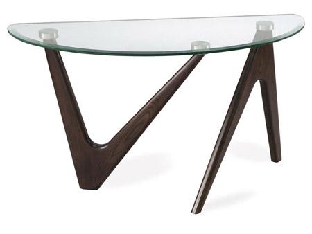 Narrow Demilune Console Tables Angles Console Table   Intaglia Home Collection - An Atlanta Furniture ...