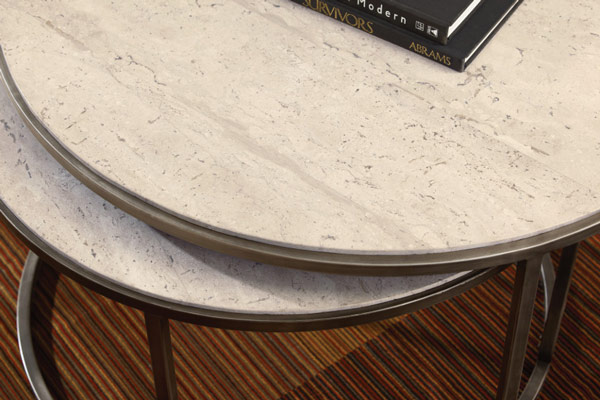 Stone Round Nesting Coffee Table