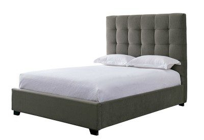 Grid Pewter Bed