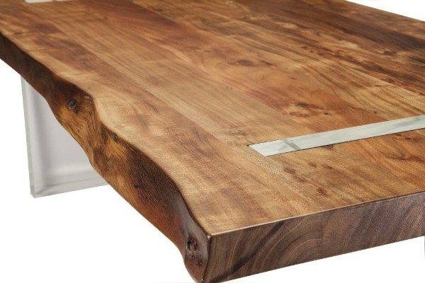 Lucite Leg Table Close up