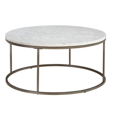 Julien white marble coffee table
