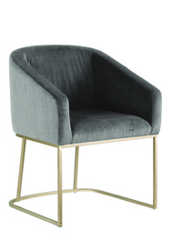 Ryan Grey Dining Chair Sm