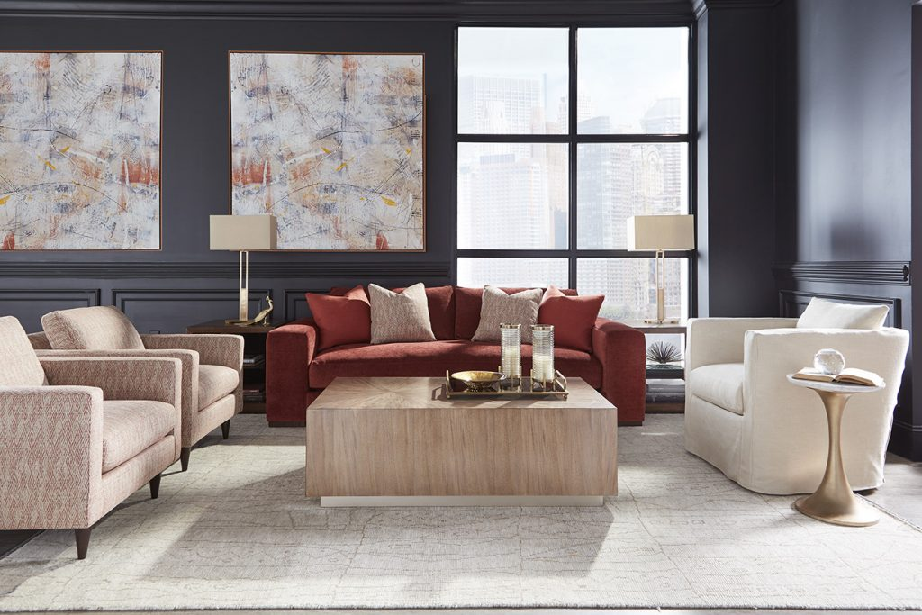 Choosing a fabric for your sofa really makes it your own creation.  A pop of color will highlight a room or neutral fabrics will blend in with the room. www.intagliahome.com