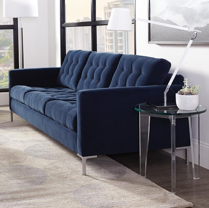 Modern Mix Sofa is a modern sofa style with straight arms and button cushions. www.intagliahome.com