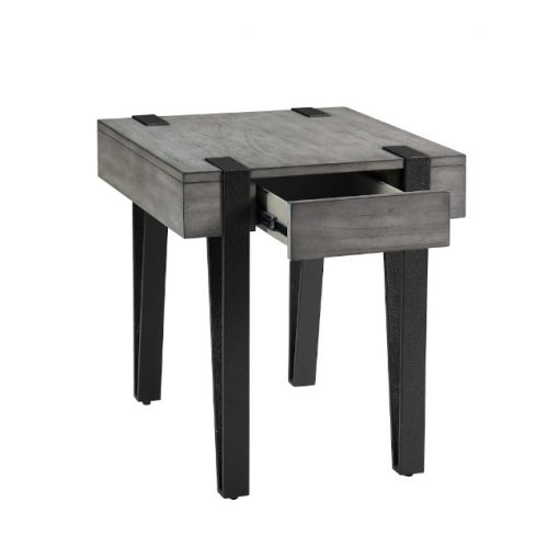 Foundry End Table Drawer Open