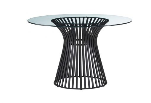 Omi Black Base Glass top table lg