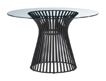 Omi Black Base Glass top table sm