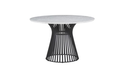 Omi Black Base marble top table lg