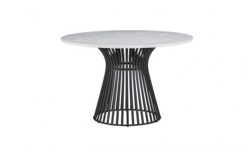 Omi Black Base marble top table sm