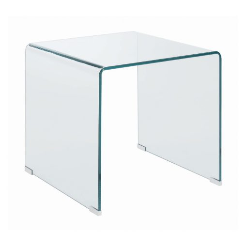 All Glass End Table