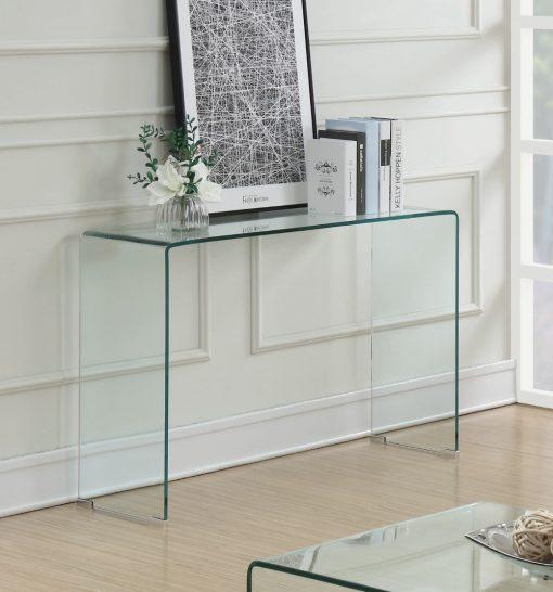 All Glass Sofa Table Room
