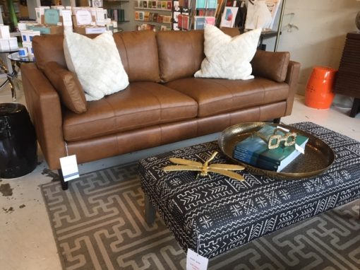Trafton Leather Sofa showroom